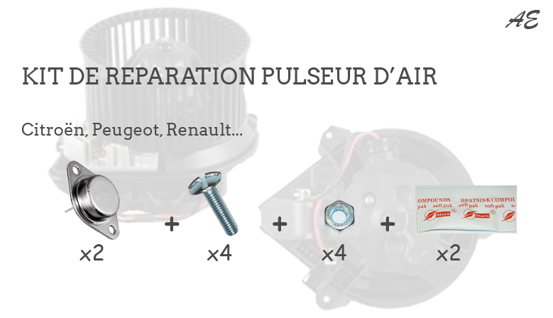 kit de r paration pulseur d 39 air ventilation habitacle. Black Bedroom Furniture Sets. Home Design Ideas